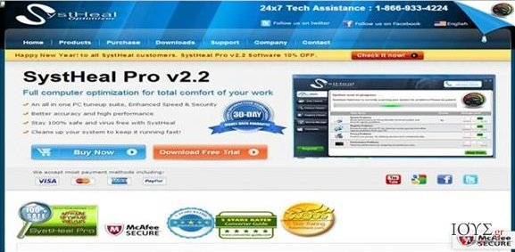Στιγμιότυπο του Systheal Optimizer