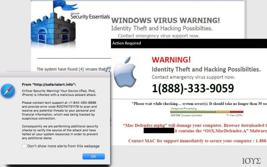 Στιγμιότυπο του Ιός Tech Support Scam