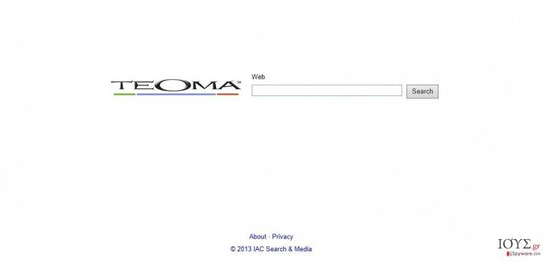 Στιγμιότυπο του Teoma Web Search