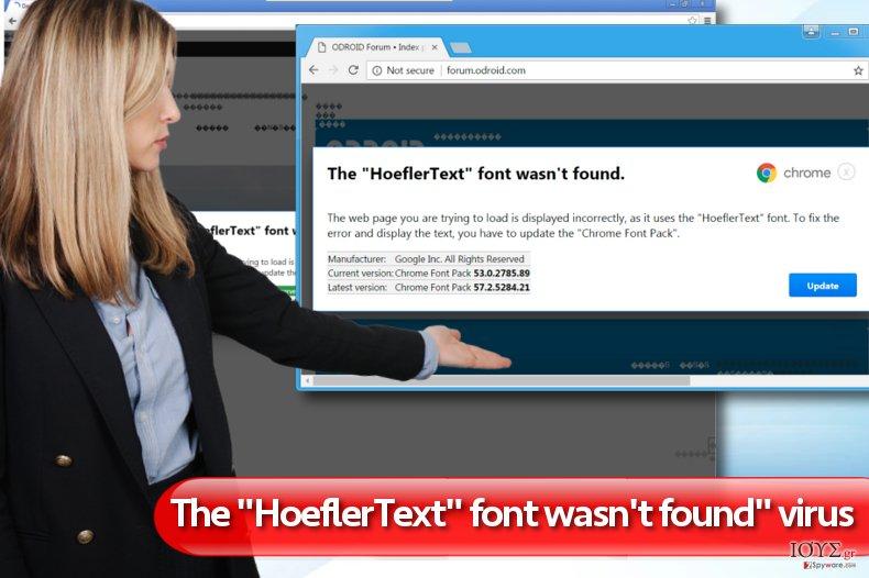 """Στιγμιότυπο του """"The HoeflerText font wasn't found"""" διαφημίσεις"""