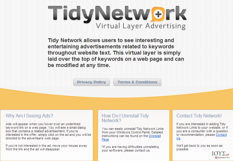 Στιγμιότυπο του TidyNetwork.com
