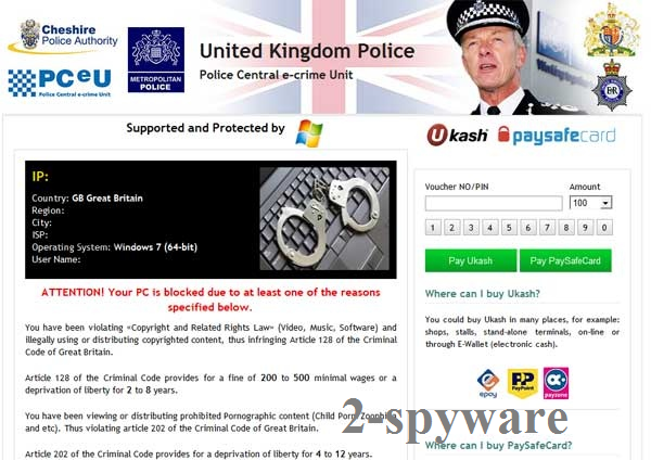 Στιγμιότυπο του UK Police virus