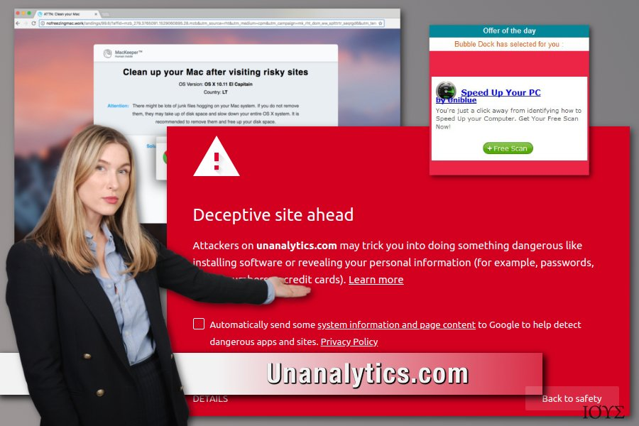 To Unanalytics.com adware