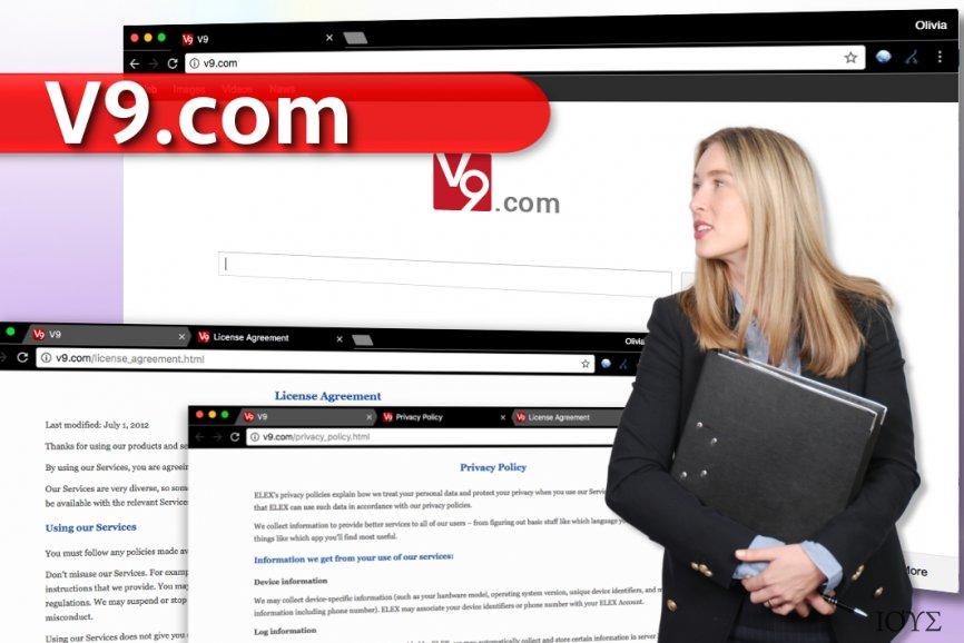 Στιγμιότυπο του v9.com ΙΟΣ