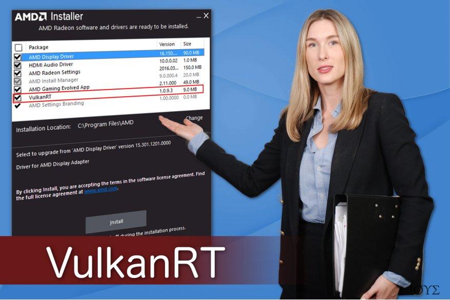 Απεικόνιση του ιού VulkanRT
