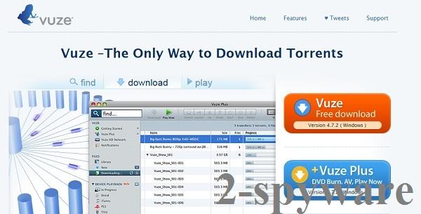 Στιγμιότυπο του Vuze Toolbar