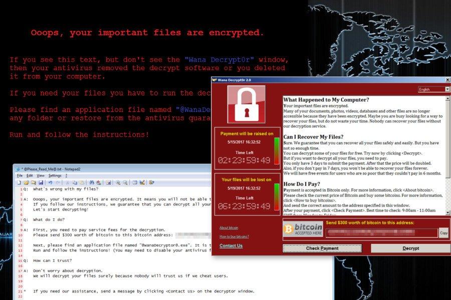 O ιός Wana Decrypt0r ransomware