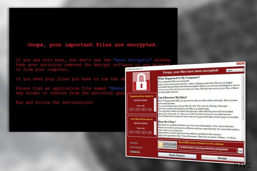 Ο ιός WanaCrypt0r