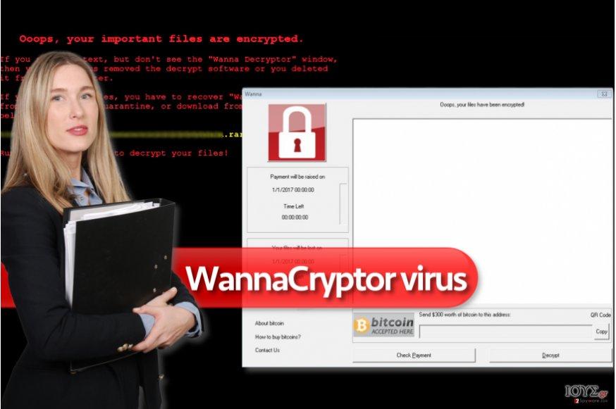 Ιός WannaCryptor ransomware