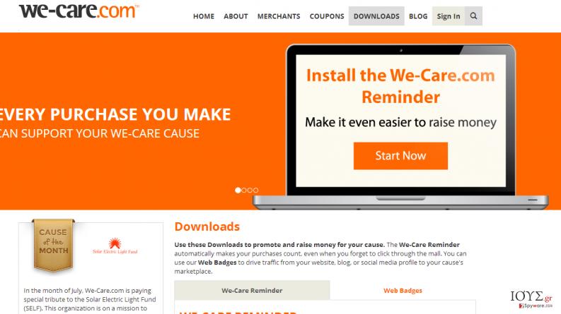 Στιγμιότυπο του We-care.com