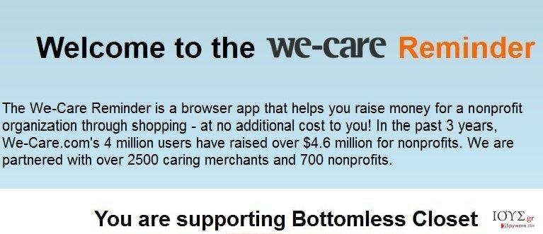Στιγμιότυπο του We-care Reminder