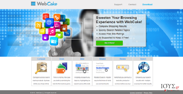 Στιγμιότυπο του WebCake