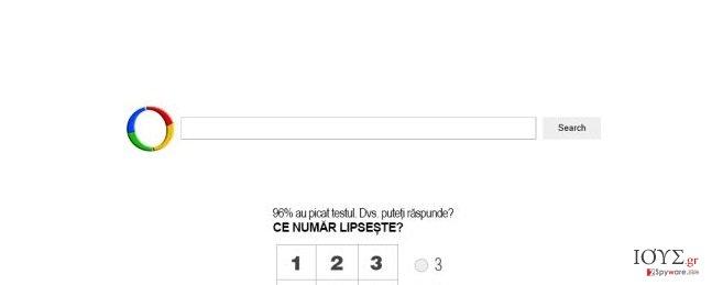 Στιγμιότυπο του Websearch.searchfix.info ιός