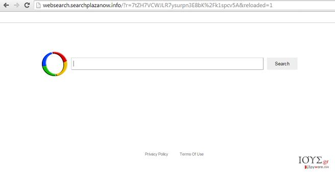 Στιγμιότυπο του Websearch.searchplazanow.info