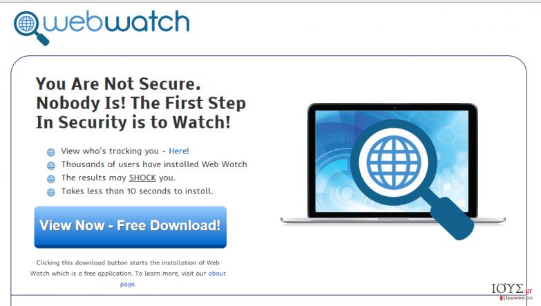 Στιγμιότυπο του Διαφημίσεις του Web Watch