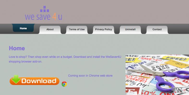 Στιγμιότυπο του WeSaver4u ιός