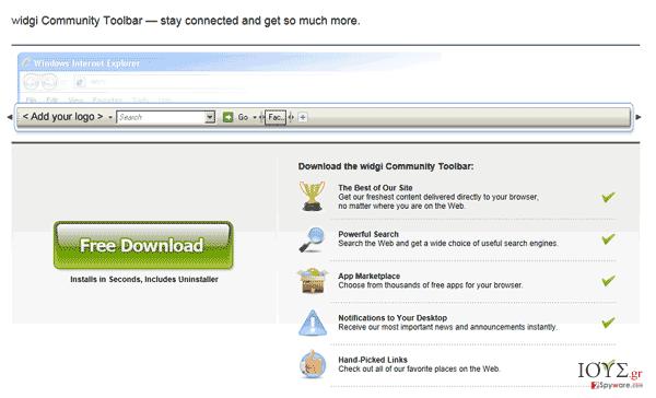 Στιγμιότυπο του Widgi Toolbar