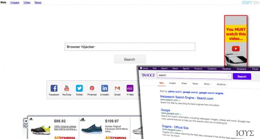 Στιγμιότυπο του Yahoo Startnow ΙΟΣ