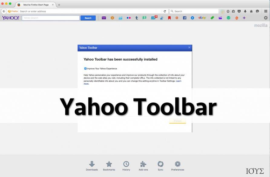 Στιγμιότυπο του Γραμμή Εργαλείων Yahoo