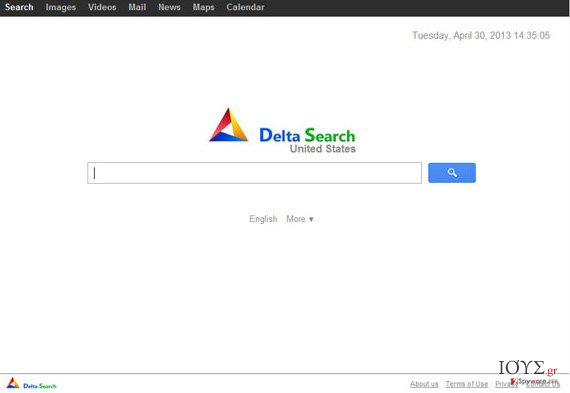 Στιγμιότυπο του yhs.delta-search.com
