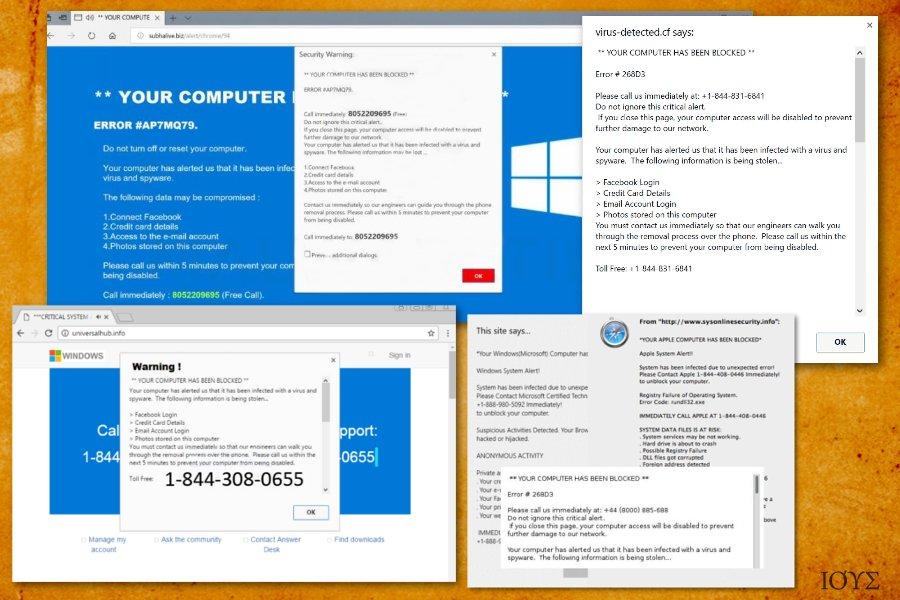 Στιγμιότυπο του Your computer has been blocked