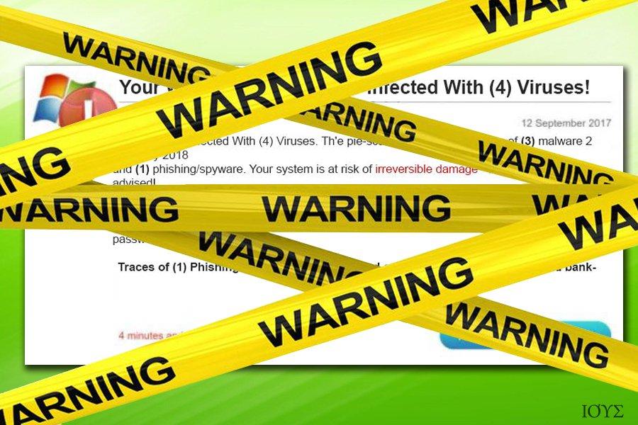 Η παραπλανητική προειδοποίηση του ιού Four