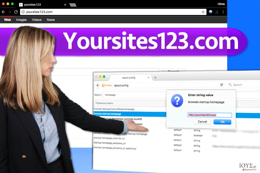 Στιγμιότυπο του Ιός YourSites123.com