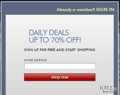 Στιγμιότυπο του Zulily.com διαφημίσεις
