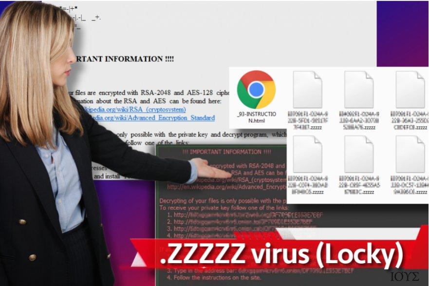 Στιγμιότυπο του Ιός ransomware Zzzzz