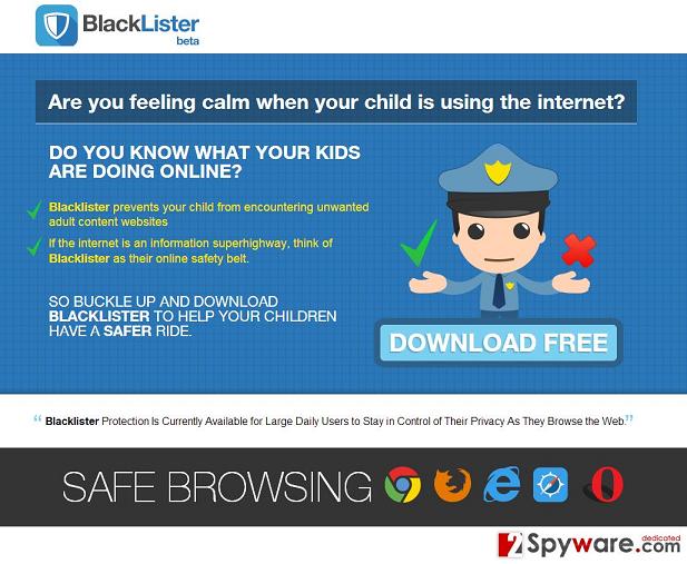 Στιγμιότυπο του BlackLister διαφημίσεις