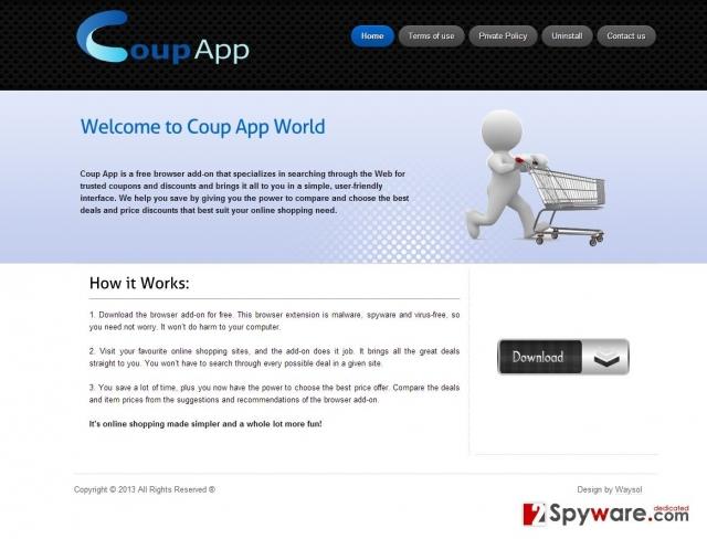 Στιγμιότυπο του Coup App Διαφημίσεις