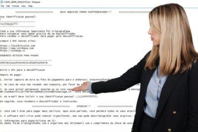 Ο ιός Ransomware Cryptolocker Portuguese