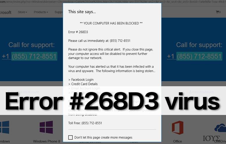 Error #268D3 alert
