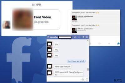Παραδείγματα του ιού Facebook Message
