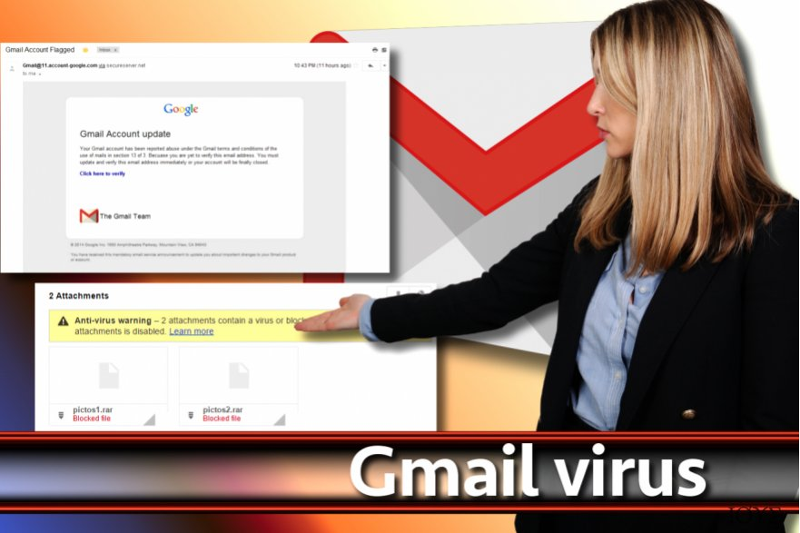 Στιγμιότυπο οθόνης ιού Gmail