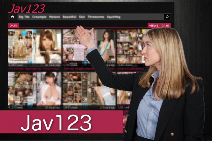 Στιγμιότυπο οθόνης με ανακατευθύνσεις Jav123