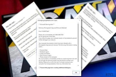 """Εικονίδιο του ιού """"Microsoft Warning Alert"""""""