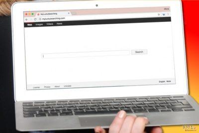 Πώς φαίνεται στον υπολογιστή ο ιός MyLuckySearching.com