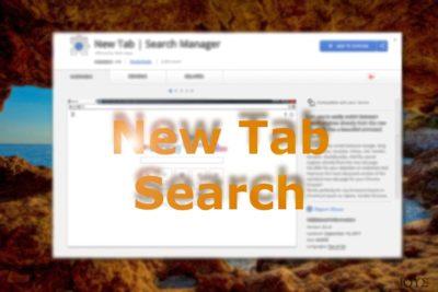 Απεικόνιση του New Tab Search στο Chrome web store