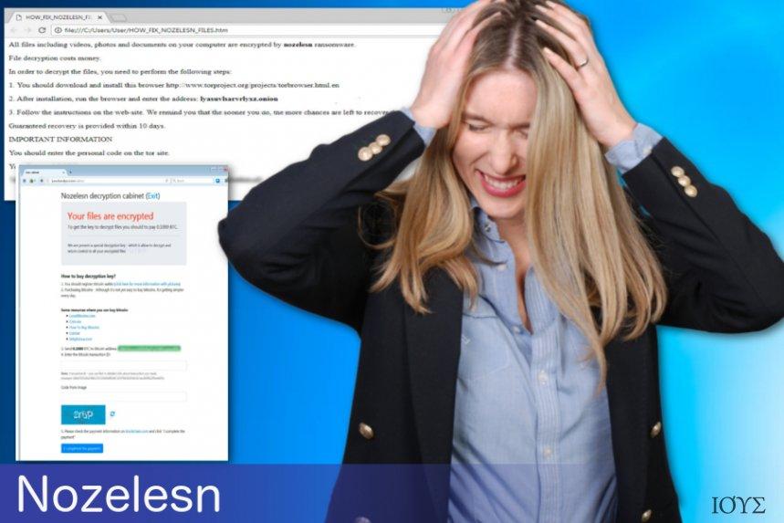 Ο ιός Nozelesn ransomware