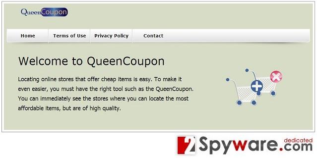 Στιγμιότυπο του QueenCoupon adware