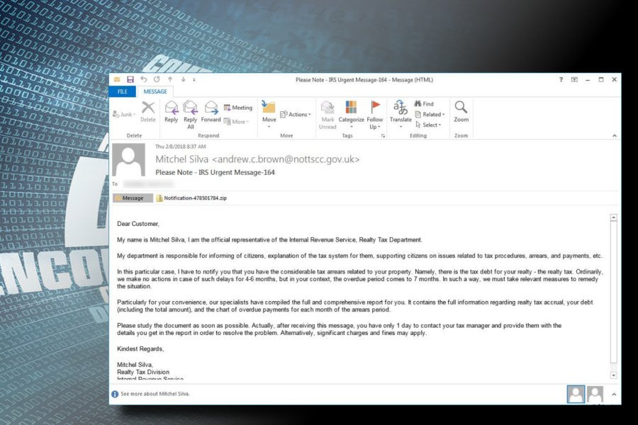 Ο ιός Rapid ransomware εξαπλώνεται διαδικτυακά μέσω spam