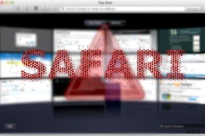 Απεικόνιση του ιού ανακατευθύνσεων Safari