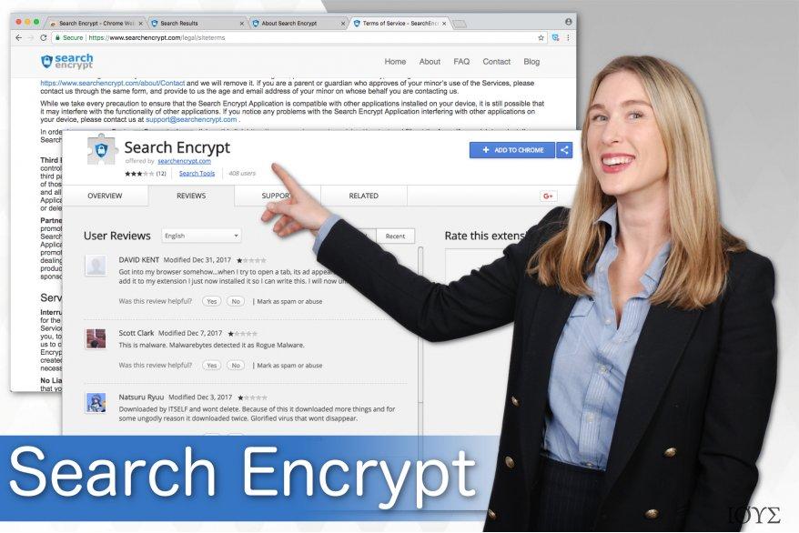 Απεικόνιση του Search Encrypt