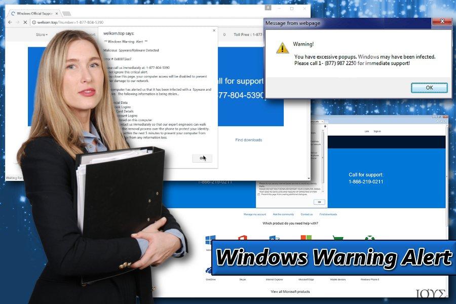 Πώς μοιάζει το Windows Warning Alert