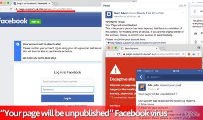 """Ιός """"Your page will be unpublished"""""""